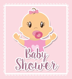 Conception de douche de bébé