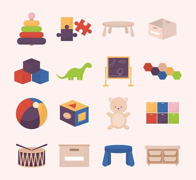 Conception de douze jouets