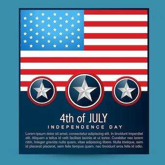 Conception de drapeau américain vectoriel avec espace pour votre texte