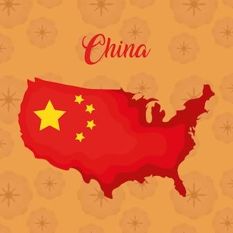 Conception de drapeau de la chine