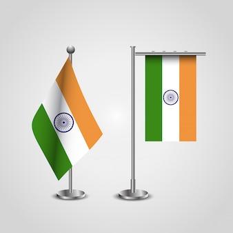 Conception de drapeau indien avec un vecteur de conception créative