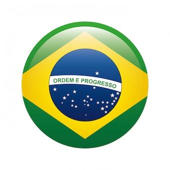 Conception du brésil sur l'illustration vectorielle fond blanc