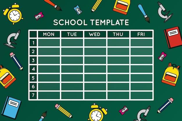 Conception du calendrier de retour à l'école