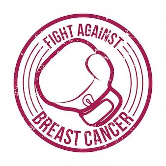 Conception du cancer du sein, illustration vectorielle.