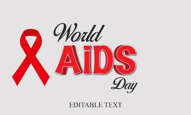 Conception du concept de la journée mondiale du sida