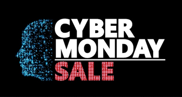 Conception du coupon de réduction cyber monday.