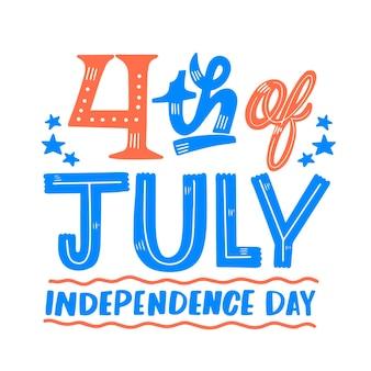 Conception du jour de l'indépendance du 4 juillet