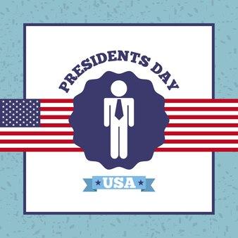 Conception du jour des présidents