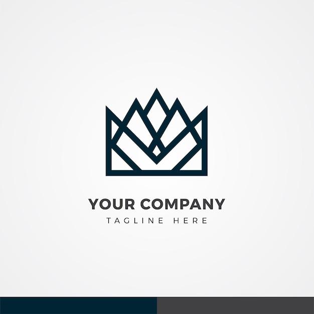 Conception du logo d'affaires de la couronne