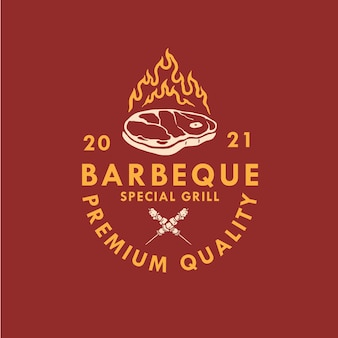 Conception du logo du bbq