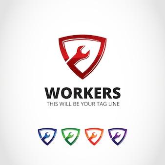 Conception du logo du travail