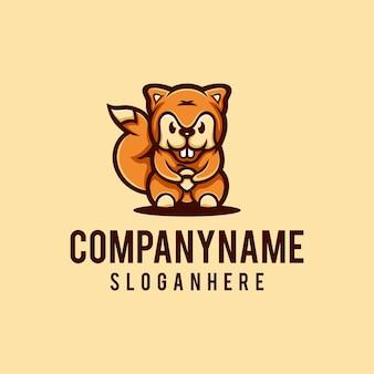 Conception du logo écureuil