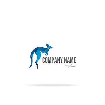 Conception du logo kangourou