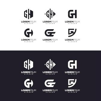 Conception du logo lettre gh