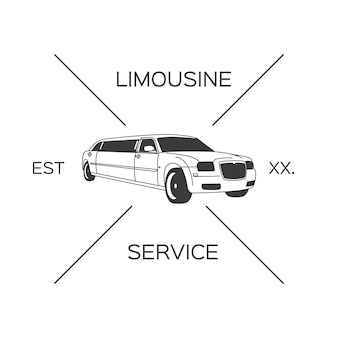 Conception du logo limousine