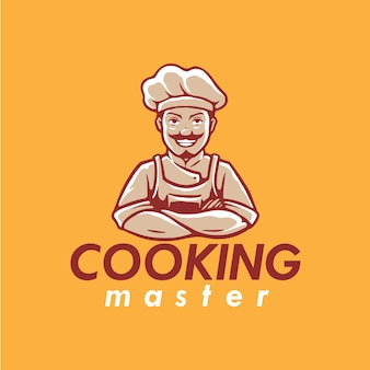 Conception du logo de la mascotte de chef