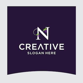 Conception du logo n raisin