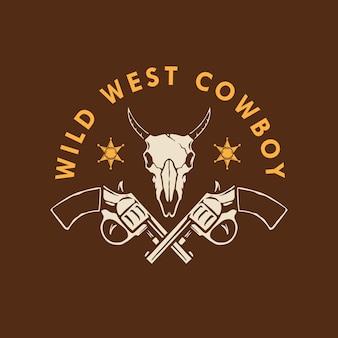 Conception du logo wild west cowboy