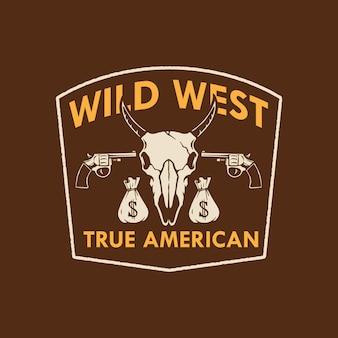 Conception du logo wild west