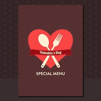 Conception du menu de la saint-valentin