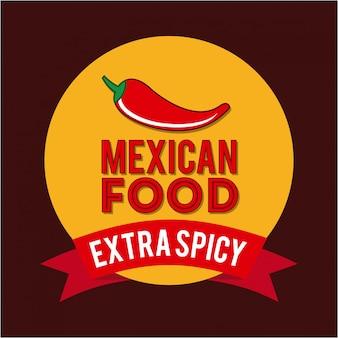 Conception du mexique au cours de l'illustration vectorielle fond rouge