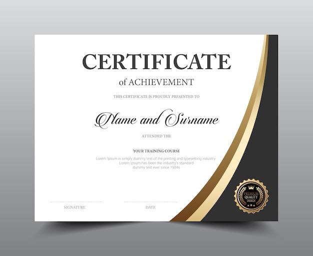 Conception du modèle de mise en page du certificat
