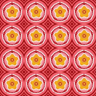 La conception du modèle sans couture a été inspirée par les fleurs roses. illustration.
