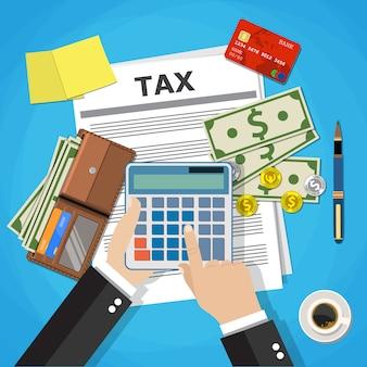 Conception du paiement des taxes