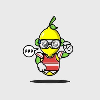 La conception du personnage du robot étudiant au citron