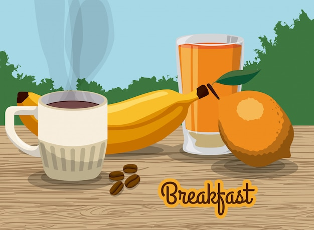 Conception du petit déjeuner.