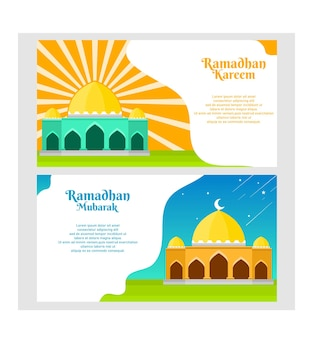 Conception du ramadan du festival flyer