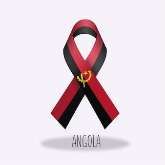 Conception du ruban du drapeau en angola