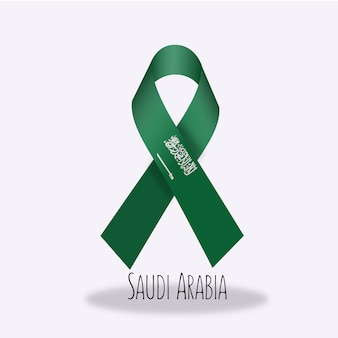 Conception du ruban du drapeau arabie saoudite