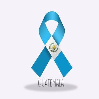 Conception du ruban du drapeau du guatemala