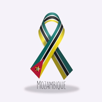 Conception du ruban du drapeau du mozambique