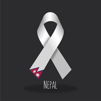 Conception du ruban du drapeau du népal