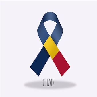 Conception du ruban du drapeau du tchad