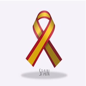 Conception du ruban du drapeau espagnol