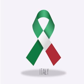 Conception du ruban du drapeau italien