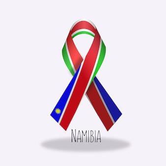 Conception du ruban du drapeau de la namibie