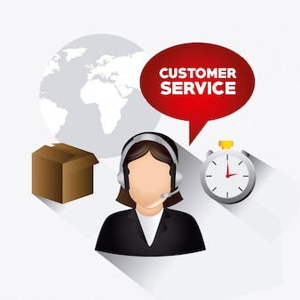 Conception du service client.