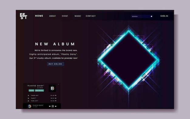 Conception du site web de la sortie de l'album