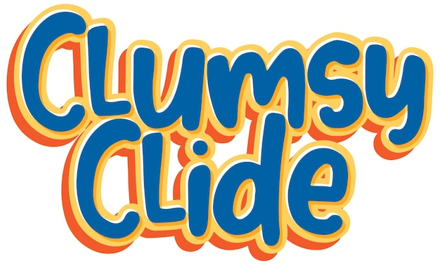 Conception du texte du logo clumsy clide