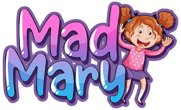 Conception du texte du logo mad mary