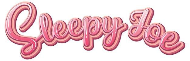 Conception du texte du logo sleepy joe