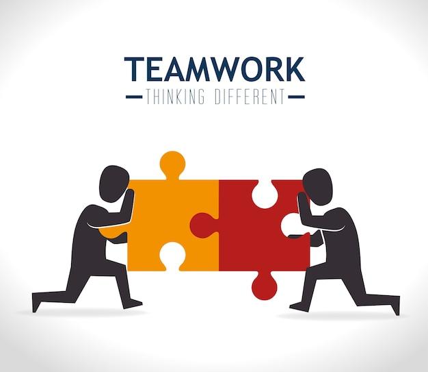 Conception du travail d'équipe.