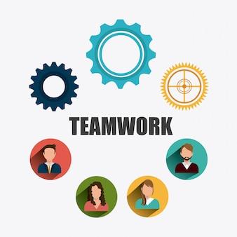 Conception du travail en équipe.