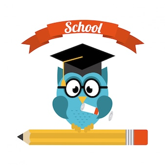 Conception de l'école sur l'illustration vectorielle fond blanc