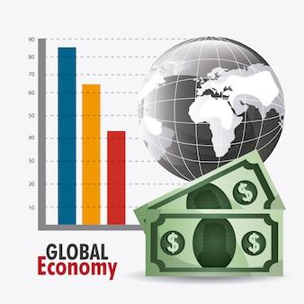 Conception de l'économie mondiale.