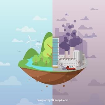Conception de l'écosystème et de la pollution